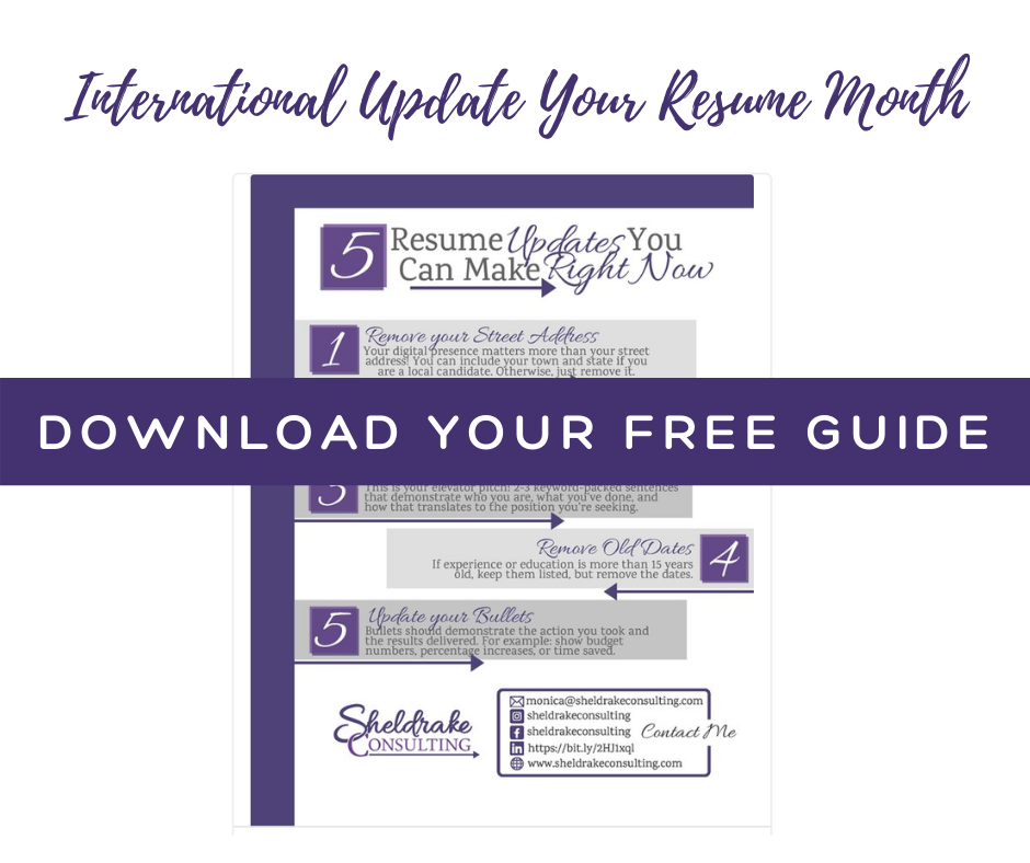 FREE Resume Tip Sheet